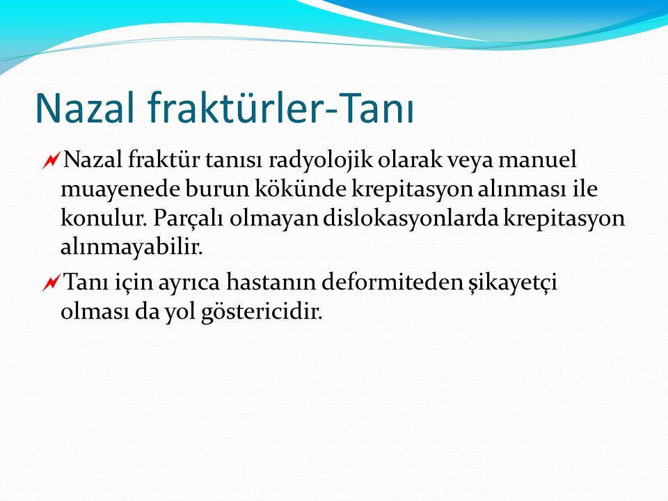Nazal fraktürler-Tanı
