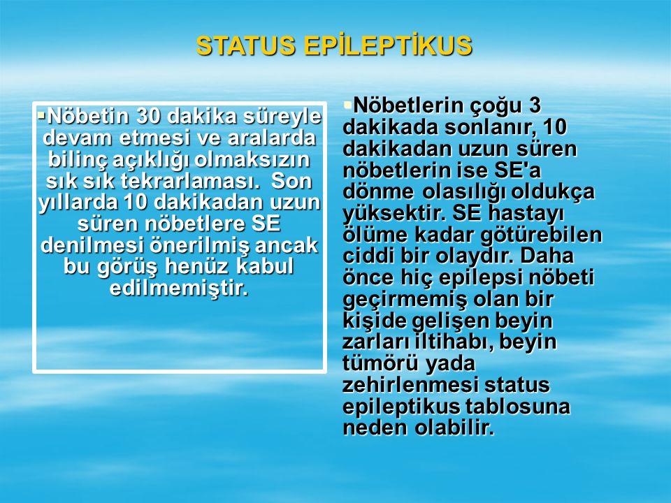 STATUS EPİLEPTİKUS