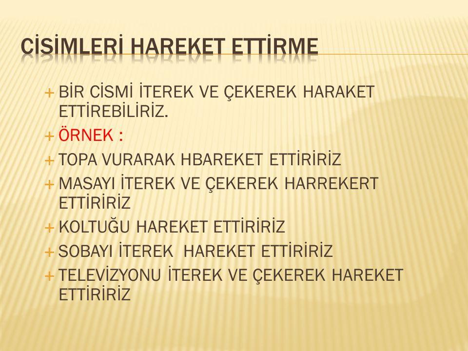 CİSİMLERİ HAREKET ETTİRME