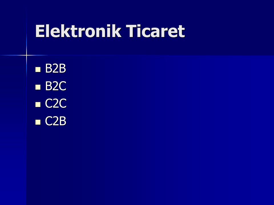 Elektronik Ticaret B2B B2C C2C C2B