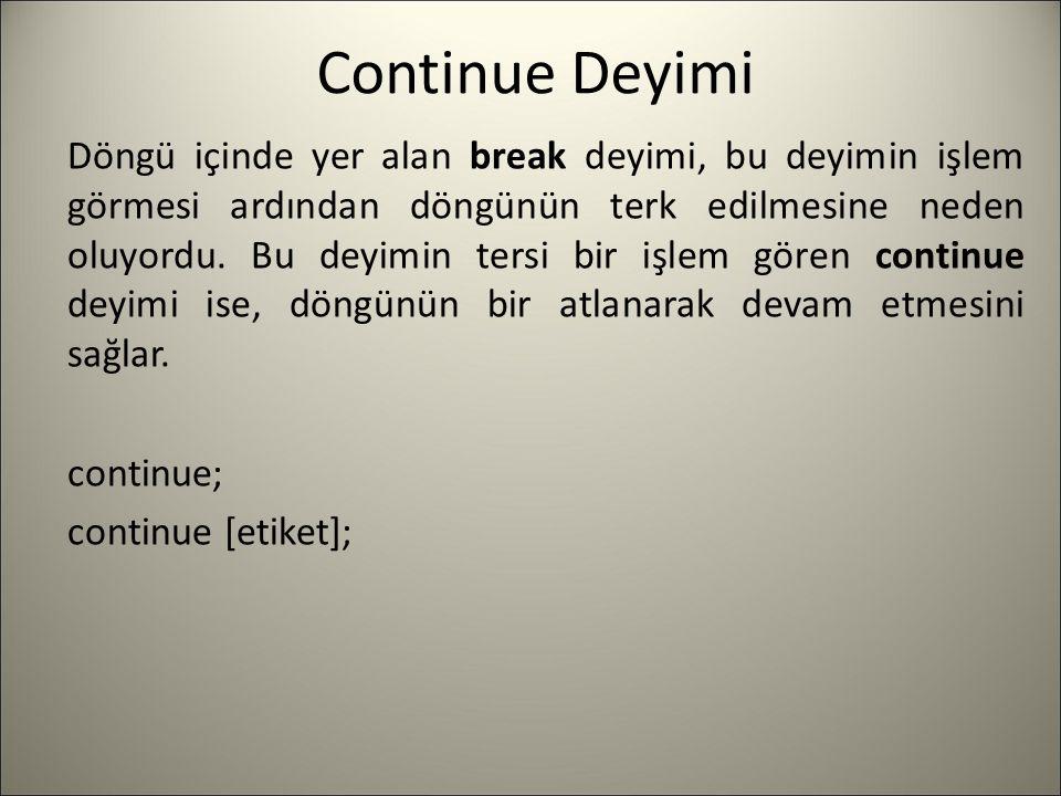 Continue Deyimi