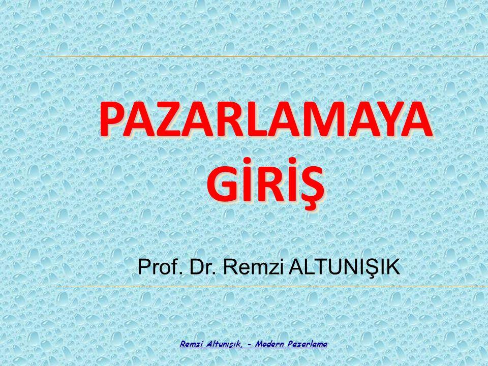 Prof. Dr. Remzi ALTUNIŞIK