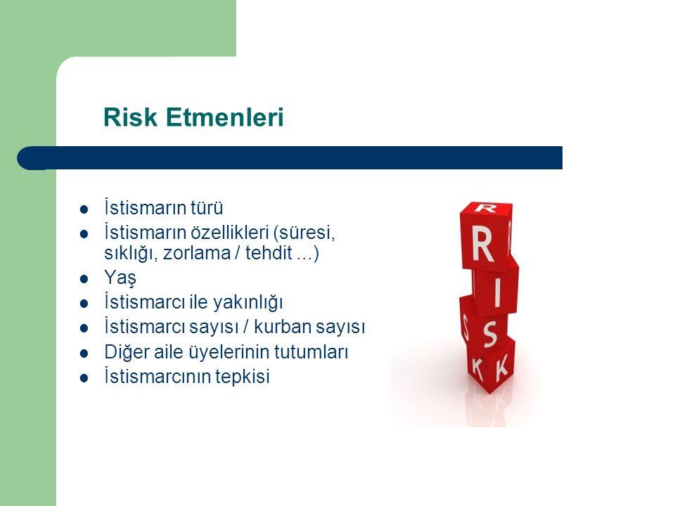 Risk Etmenleri İstismarın türü