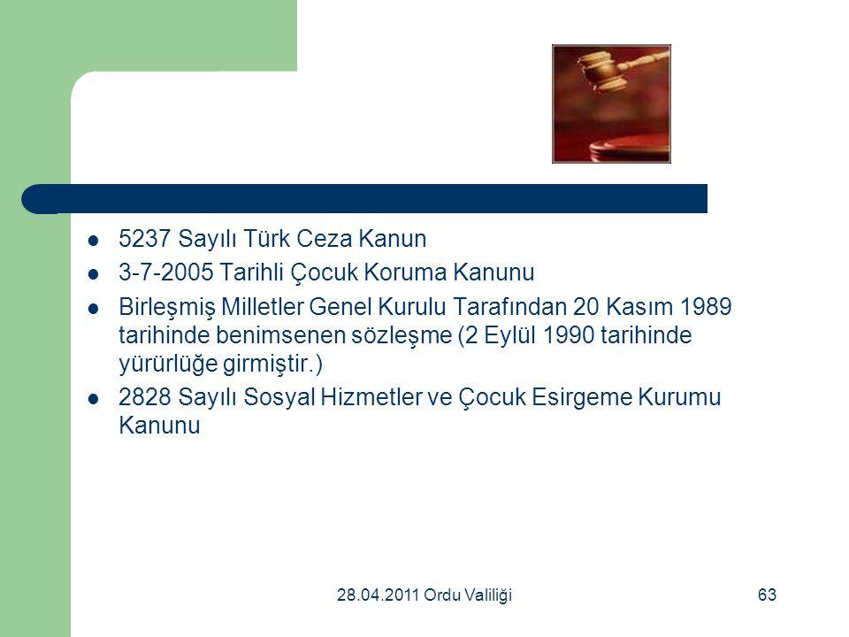 3-7-2005 Tarihli Çocuk Koruma Kanunu