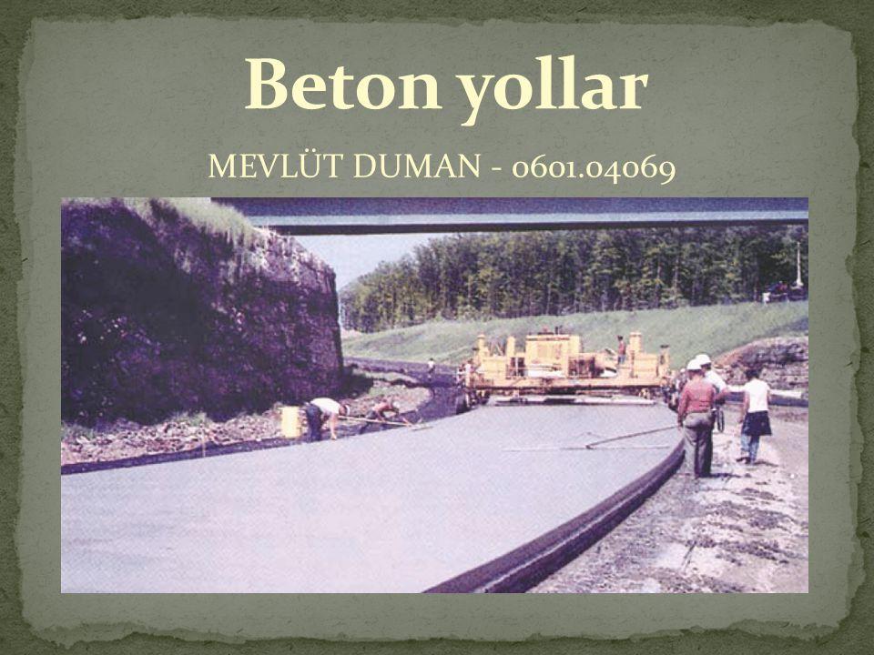 Beton yollar MEVLÜT DUMAN - 0601.04069