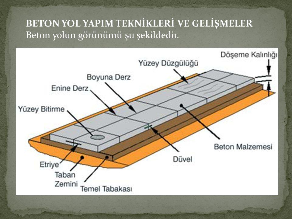 BETON YOL YAPIM TEKNİKLERİ VE GELİŞMELER
