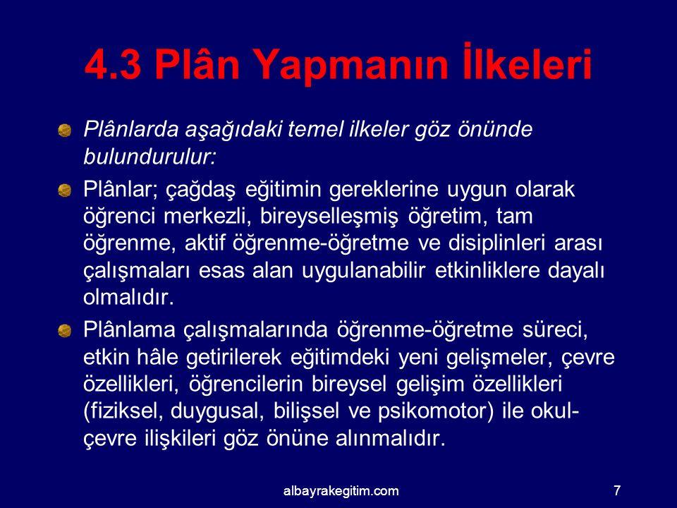 4.3 Plân Yapmanın İlkeleri