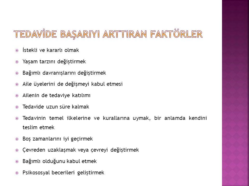 TEDAVİDE BAŞARIYI ARTTIRAN FAKTÖRLER