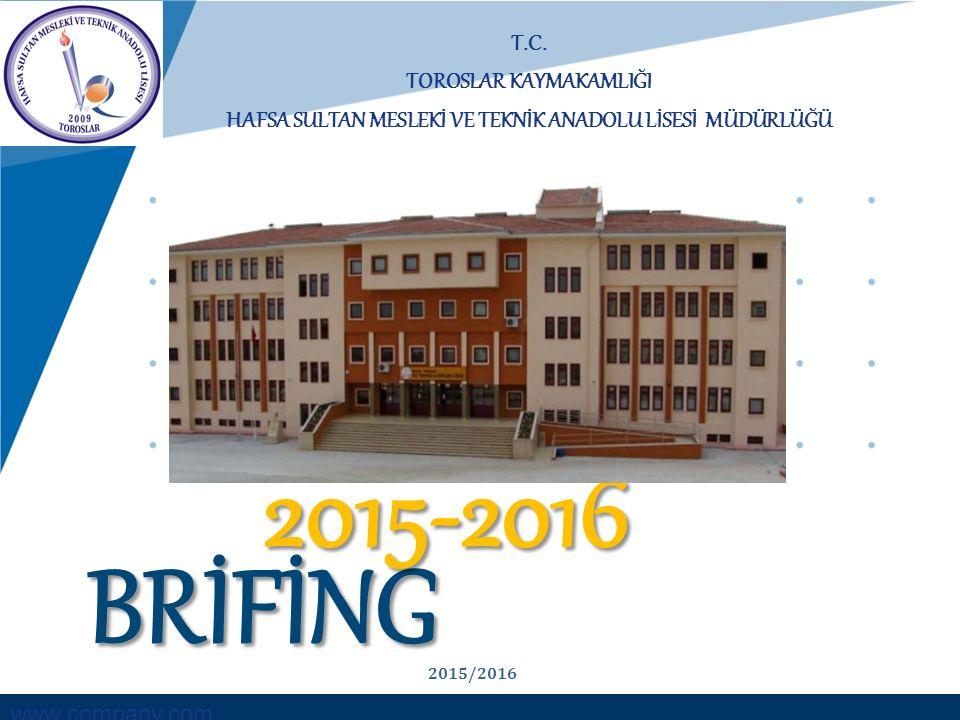 2015-2016 BRİFİNG T.C. TOROSLAR KAYMAKAMLIĞI