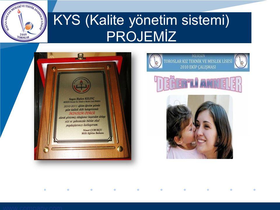 KYS (Kalite yönetim sistemi) PROJEMİZ