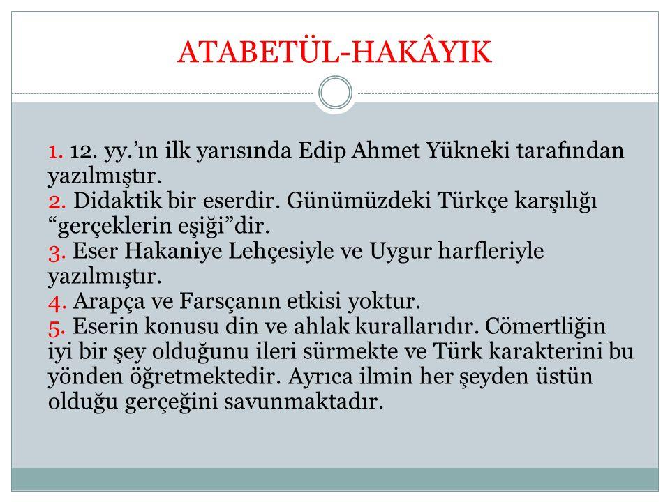 ATABETÜL-HAKÂYIK