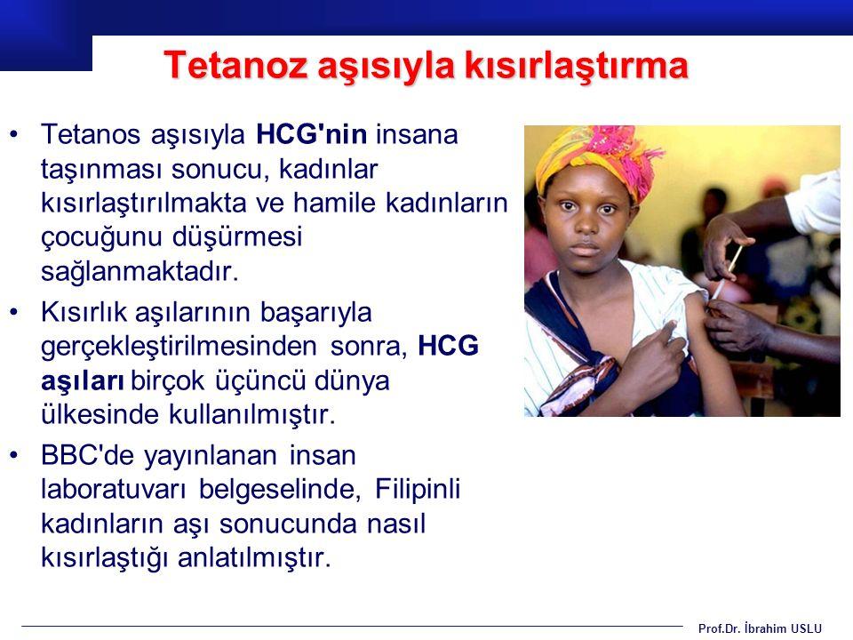 Tetanoz aşısıyla kısırlaştırma