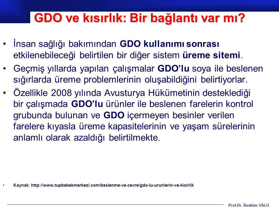 GDO ve kısırlık: Bir bağlantı var mı