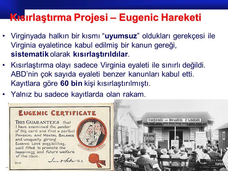Kısırlaştırma Projesi – Eugenic Hareketi