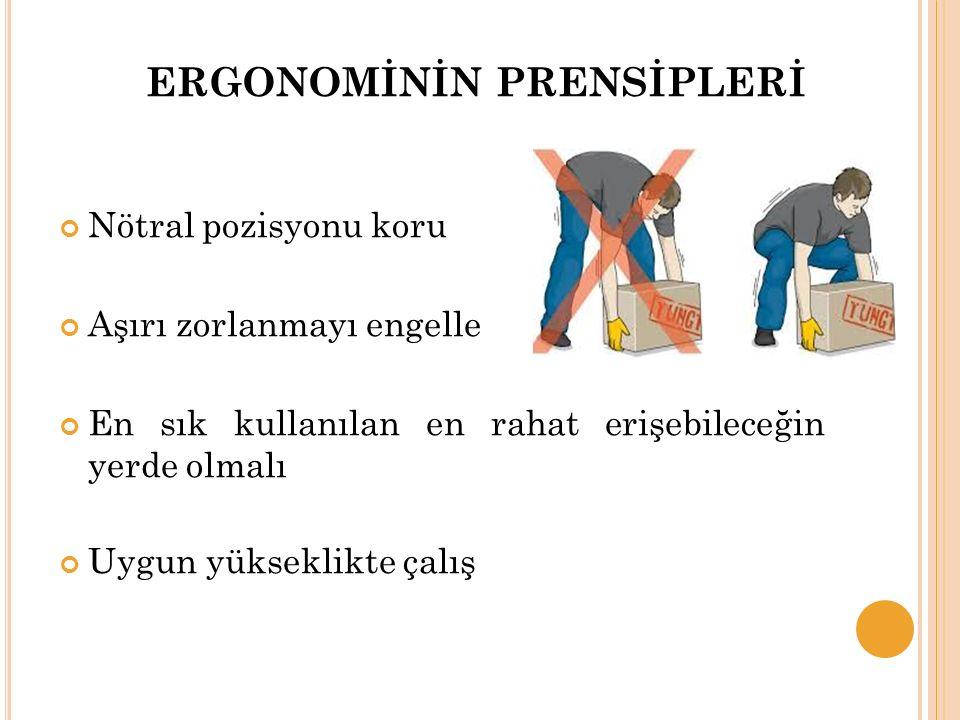 ERGONOMİNİN PRENSİPLERİ