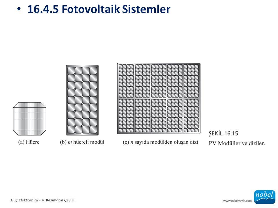 16.4.5 Fotovoltaik Sistemler