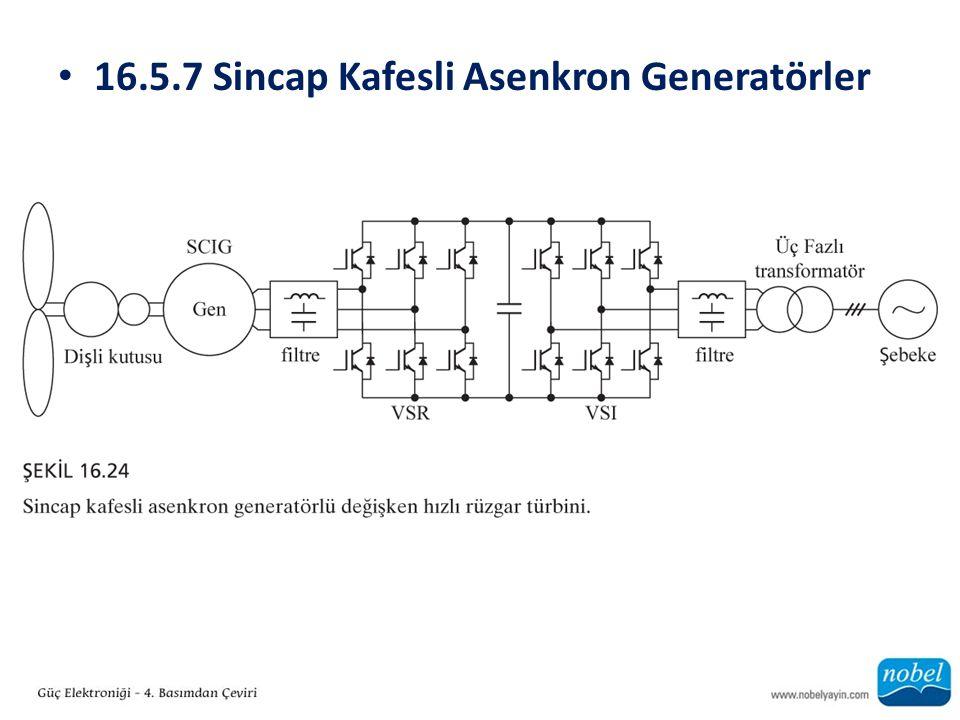 16.5.7 Sincap Kafesli Asenkron Generatörler