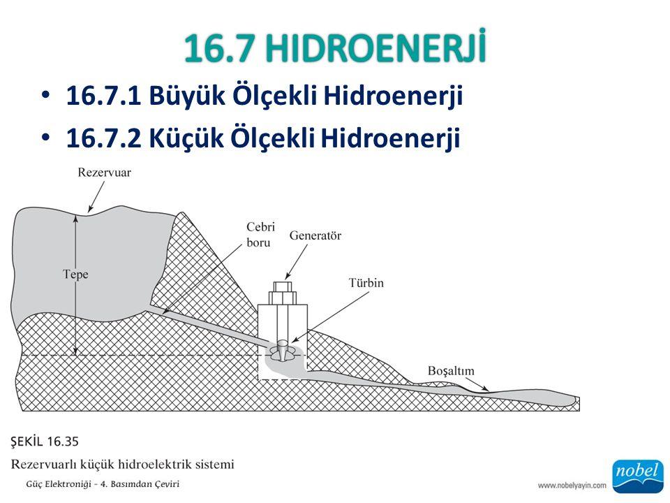 16.7 Hidroenerjİ 16.7.1 Büyük Ölçekli Hidroenerji