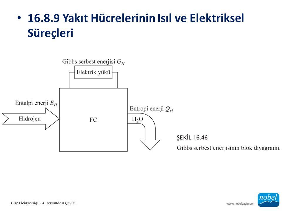 16.8.9 Yakıt Hücrelerinin Isıl ve Elektriksel Süreçleri