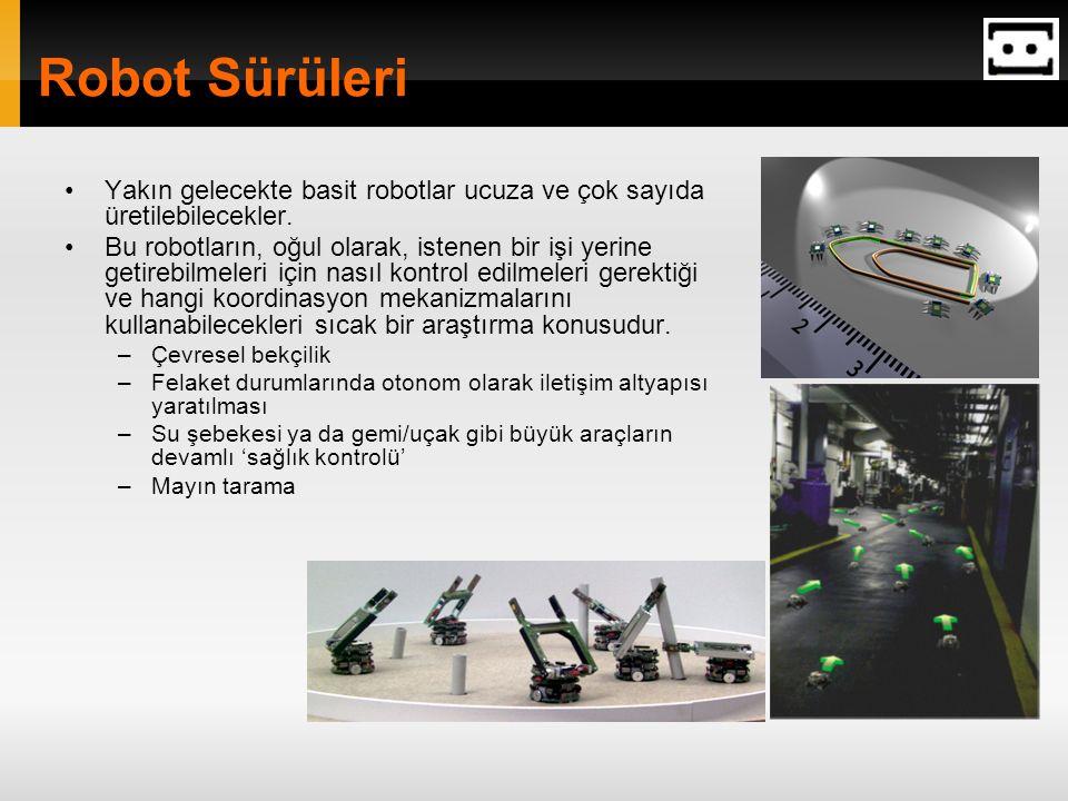 03/03/07 Robot Sürüleri. Yakın gelecekte basit robotlar ucuza ve çok sayıda üretilebilecekler.