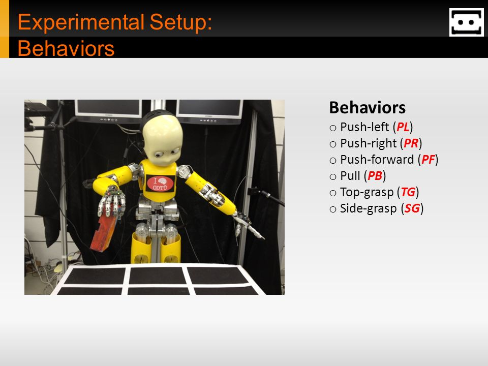 Experimental Setup: Behaviors