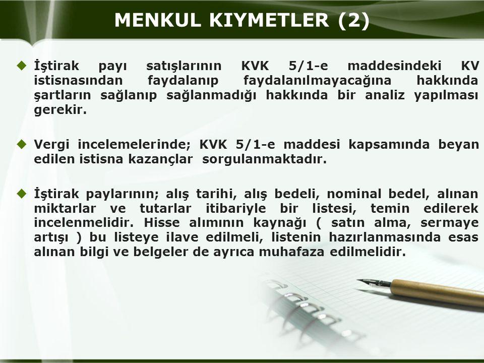 MENKUL KIYMETLER (2)