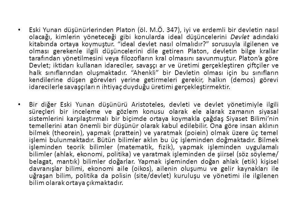 Eski Yunan düşünürlerinden Platon (öl. M. Ö