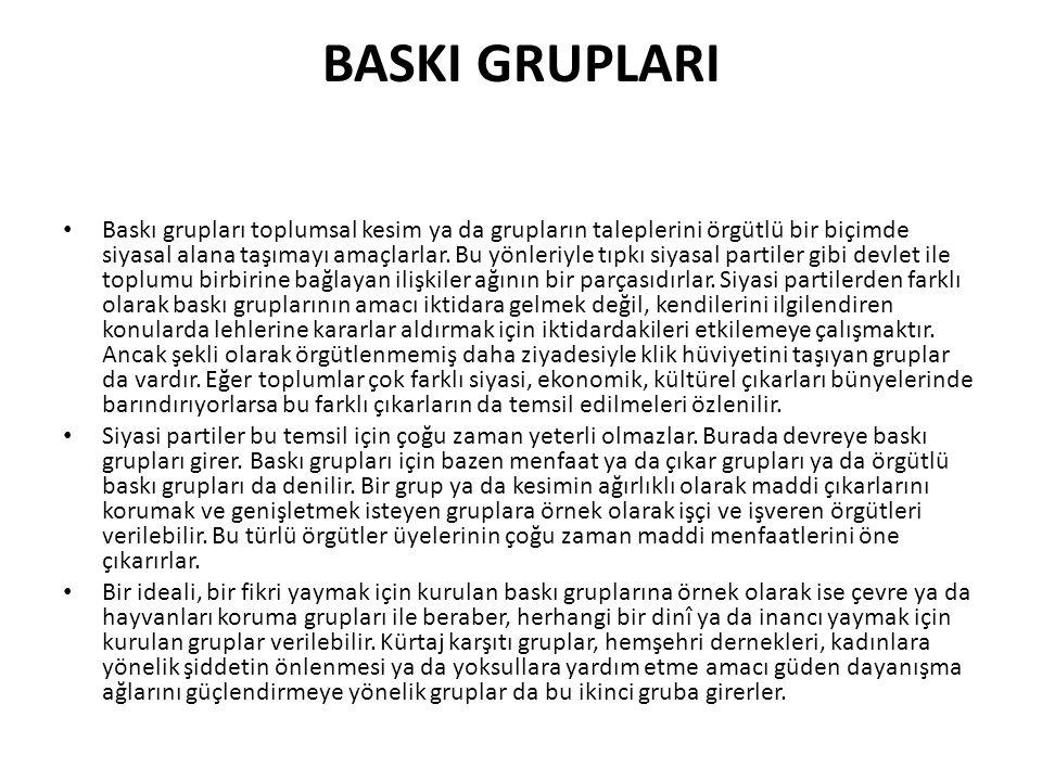 BASKI GRUPLARI