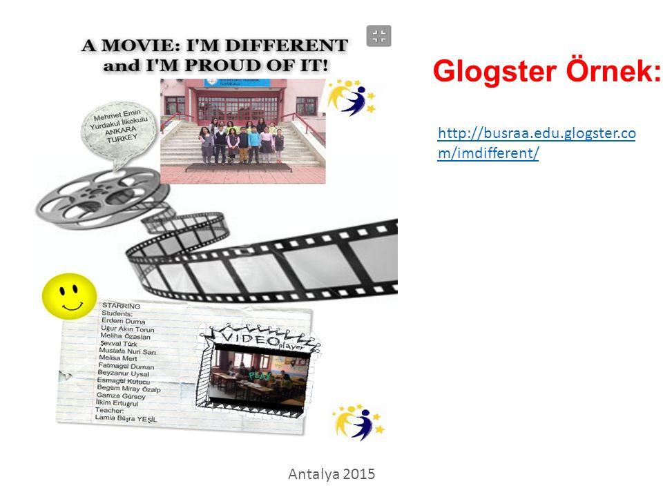 Glogster Örnek: http://busraa.edu.glogster.com/imdifferent/