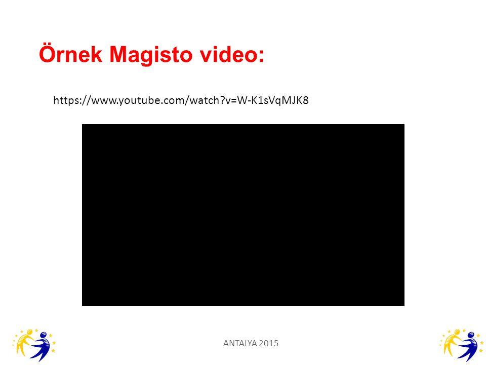 Örnek Magisto video: https://www.youtube.com/watch v=W-K1sVqMJK8
