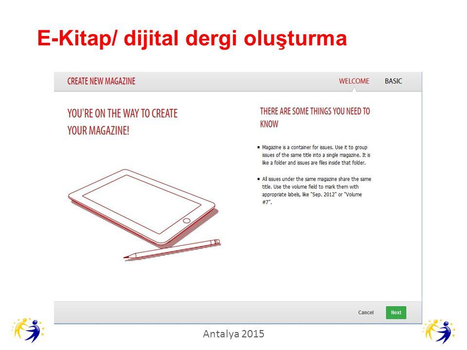 E-Kitap/ dijital dergi oluşturma