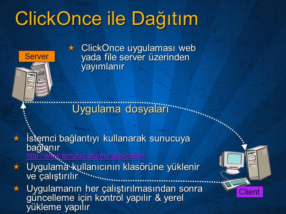ClickOnce ile Dağıtım Uygulama dosyaları