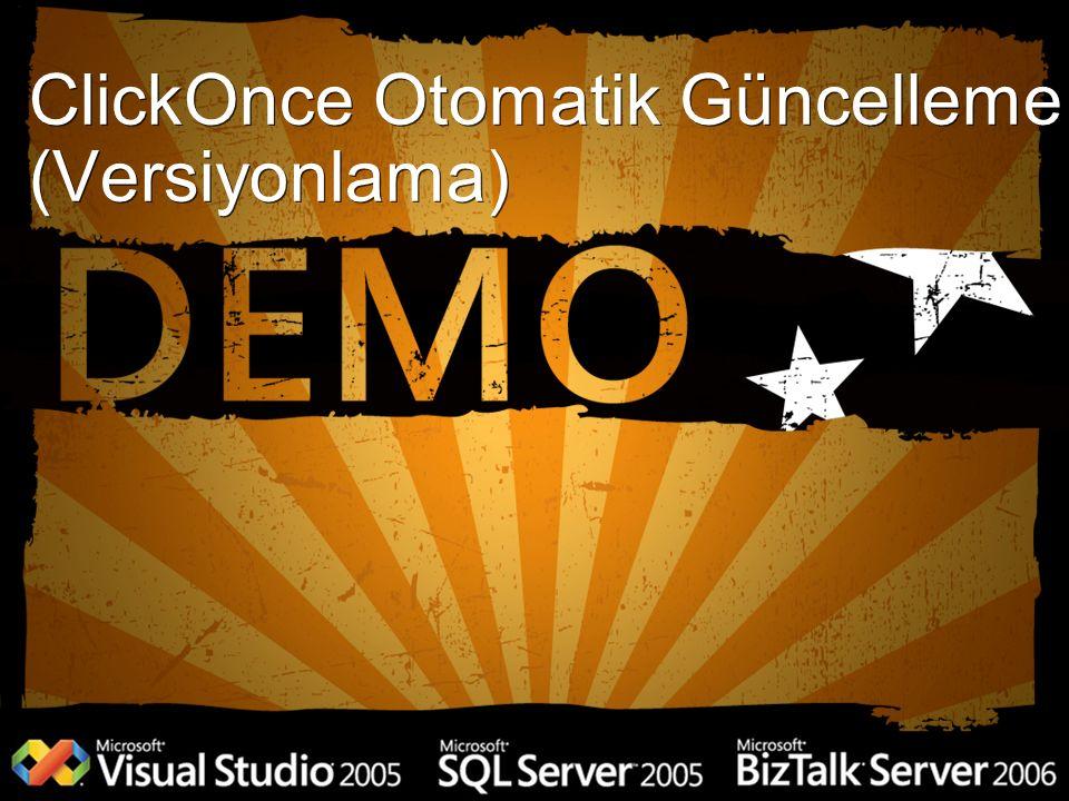ClickOnce Otomatik Güncelleme (Versiyonlama)