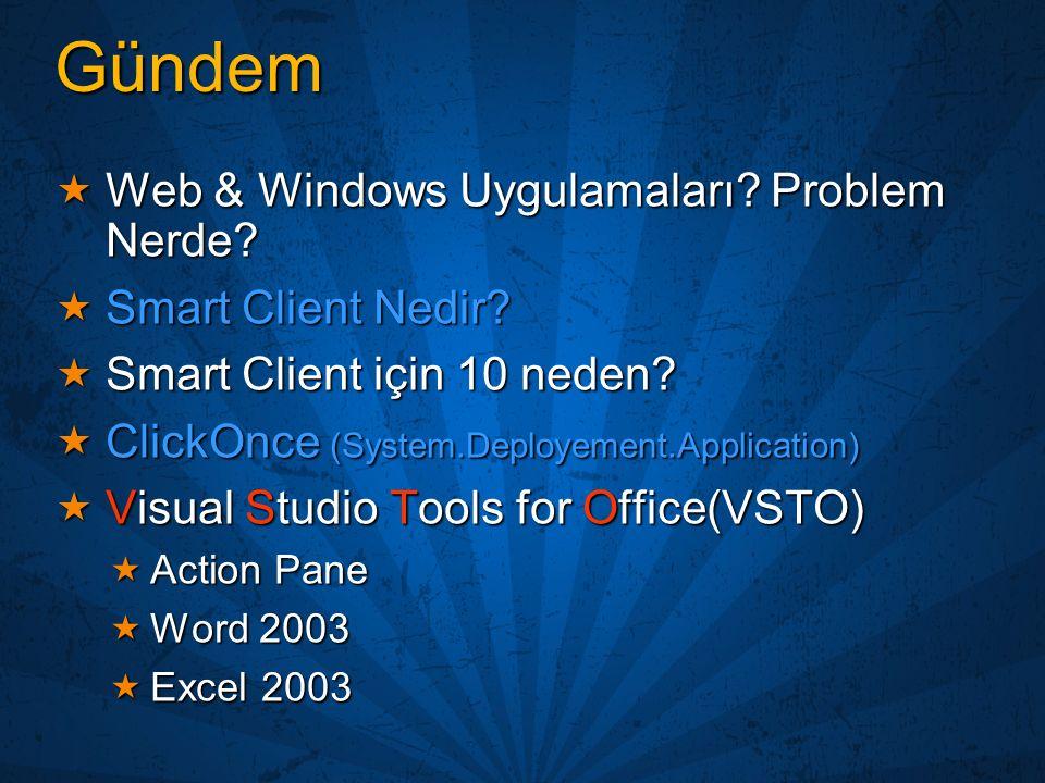 Gündem Web & Windows Uygulamaları Problem Nerde Smart Client Nedir