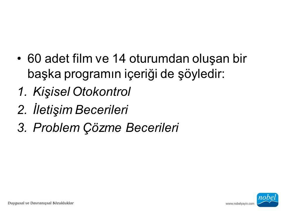 60 adet film ve 14 oturumdan oluşan bir başka programın içeriği de şöyledir: