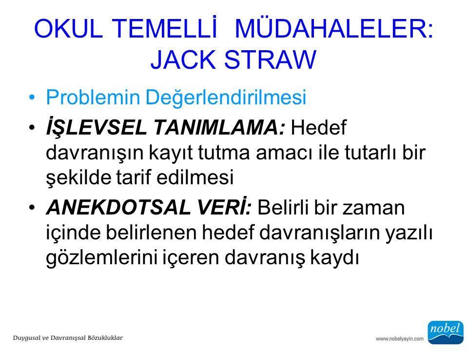 OKUL TEMELLİ MÜDAHALELER: JACK STRAW