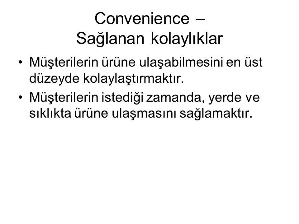 Convenience – Sağlanan kolaylıklar
