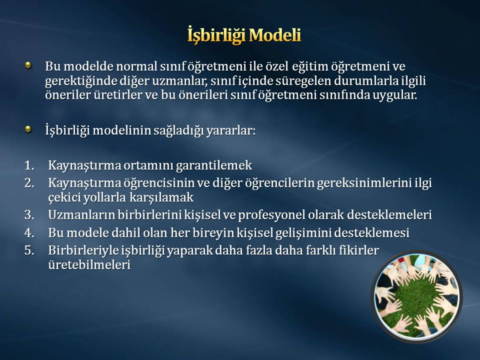 İşbirliği Modeli