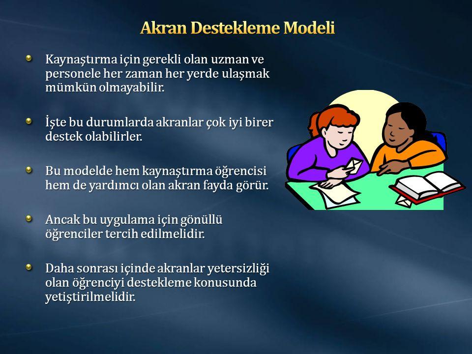 Akran Destekleme Modeli