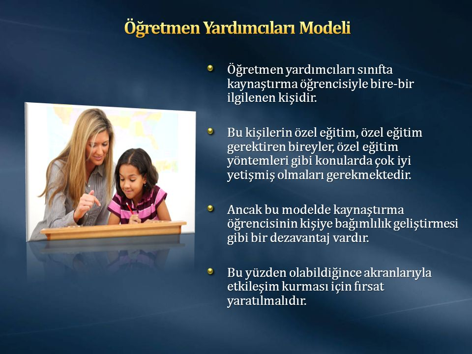 Öğretmen Yardımcıları Modeli