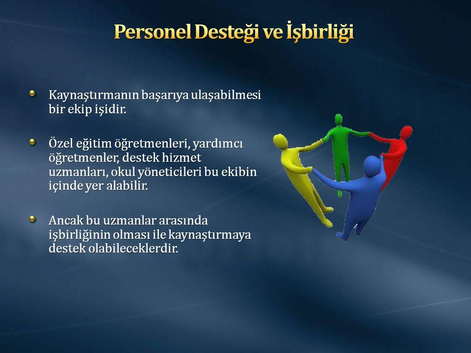 Personel Desteği ve İşbirliği
