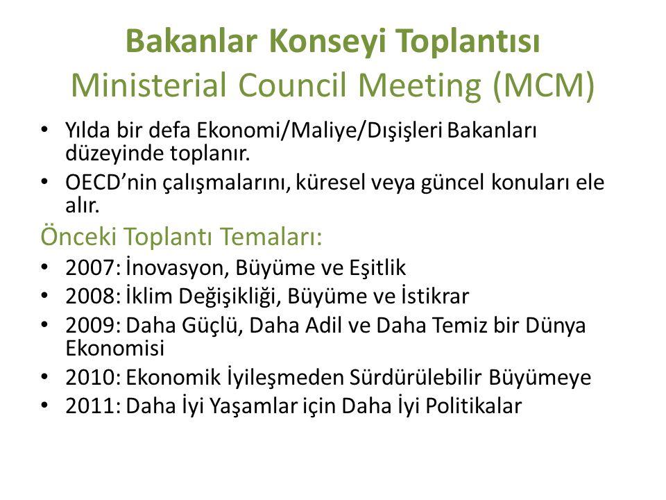 Bakanlar Konseyi Toplantısı Ministerial Council Meeting (MCM)