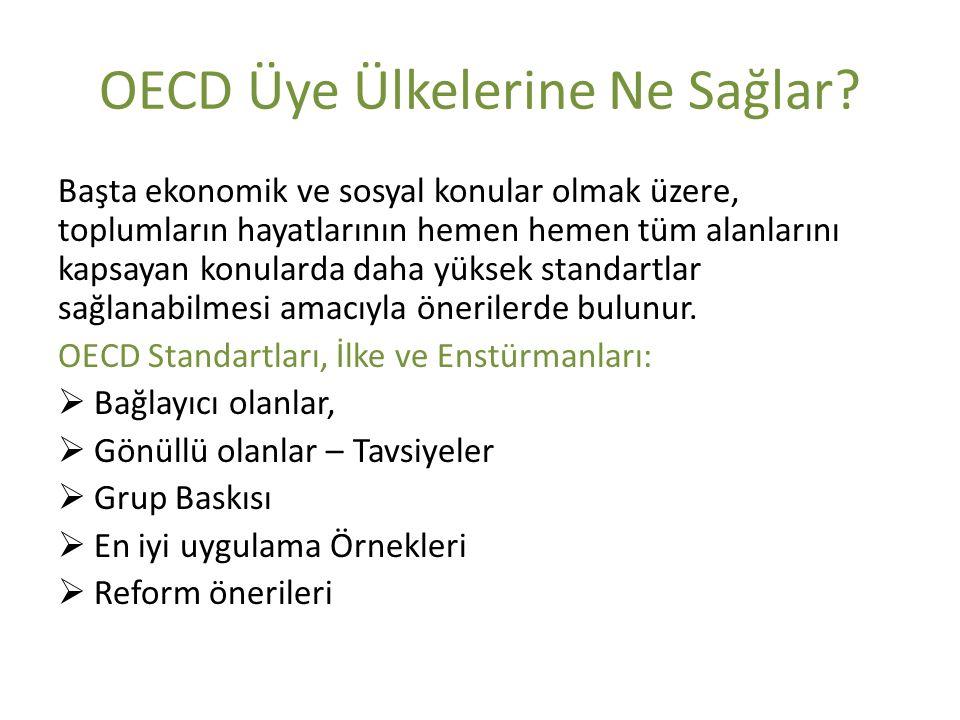 OECD Üye Ülkelerine Ne Sağlar