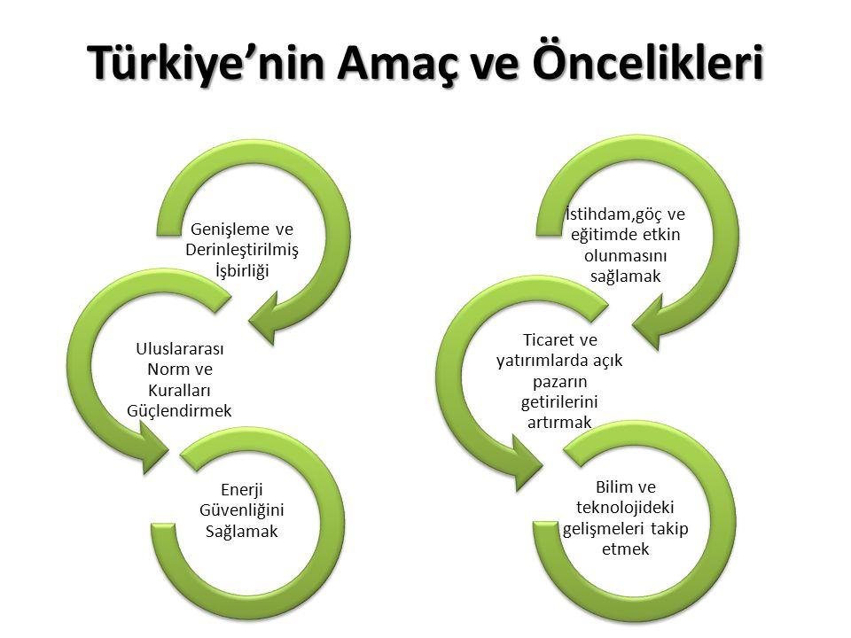 Türkiye'nin Amaç ve Öncelikleri