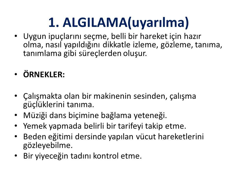 1. ALGILAMA(uyarılma)