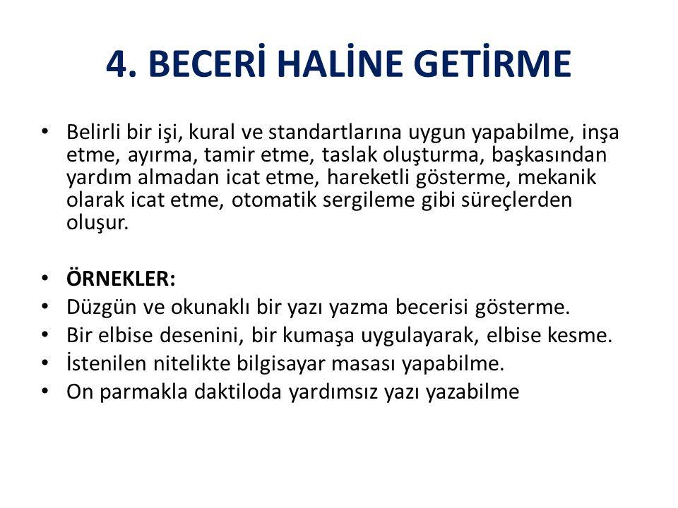 4. BECERİ HALİNE GETİRME