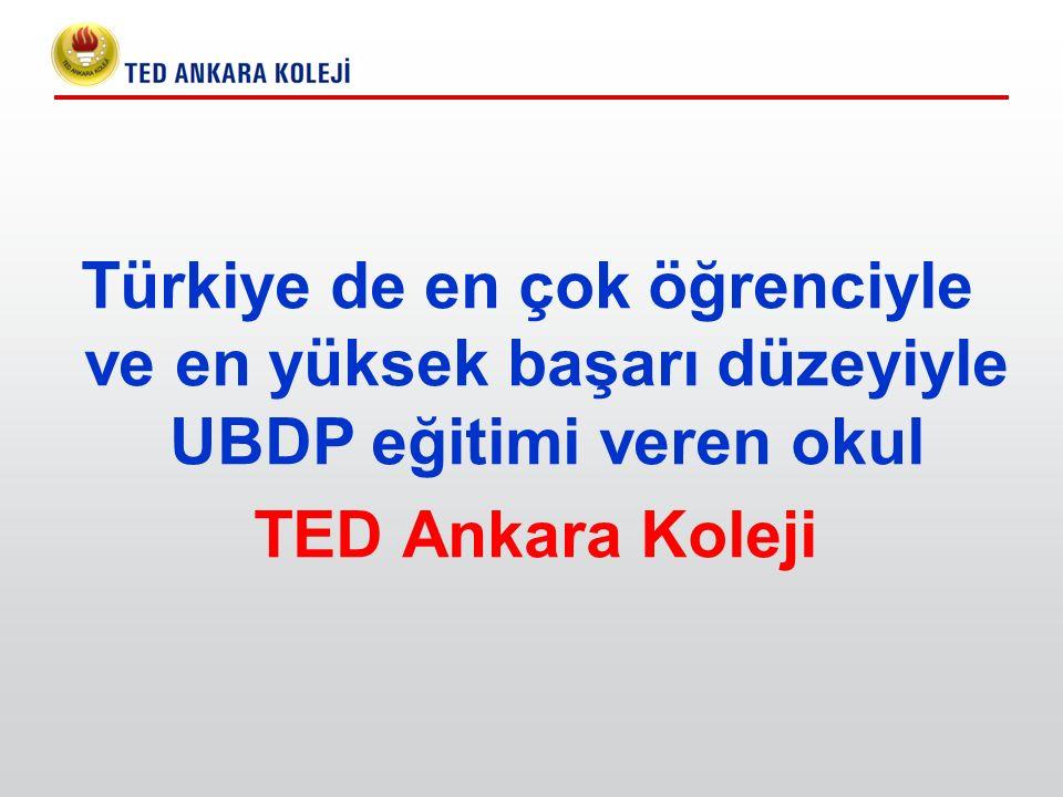 Türkiye de en çok öğrenciyle ve en yüksek başarı düzeyiyle UBDP eğitimi veren okul