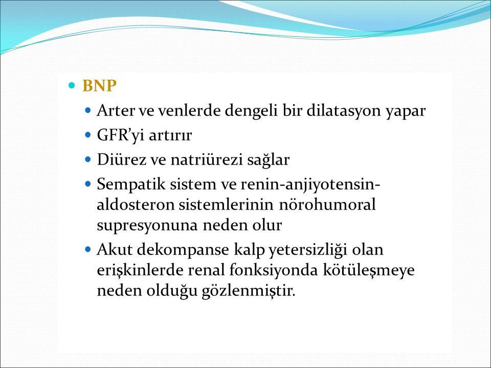 Arter ve venlerde dengeli bir dilatasyon yapar GFR'yi artırır