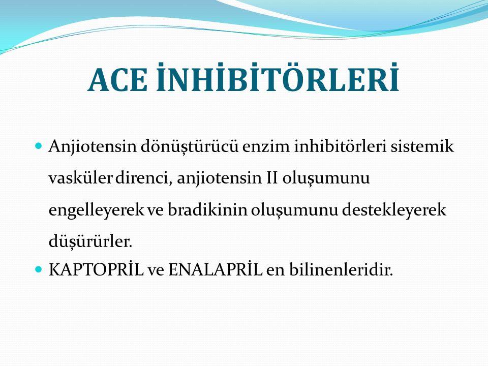 ACE İNHİBİTÖRLERİ