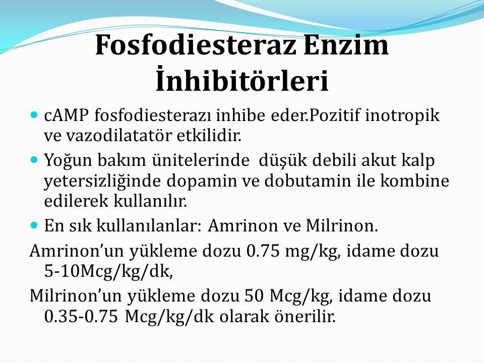 Fosfodiesteraz Enzim İnhibitörleri